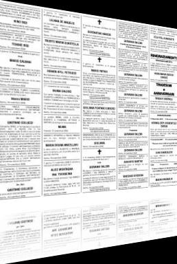 Inserzione necrologi su quotidiani nazionali